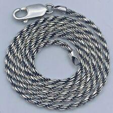 925 Silber gedrehte Kette Halskette (A36)