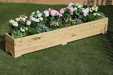 2 Metre Long Wooden Garden Planter Trough Hand Made Great Veg Bed Plain Treated