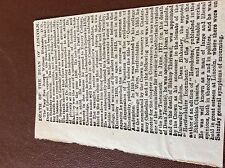 m7-4 ephemra 1885 article death of the dean of lincoln w blakesley