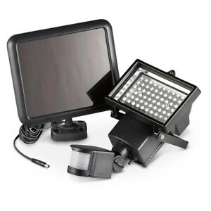 Sunforce Solar Powered 60 LED Motion Activated Light, Black (82156)