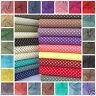 POLKA DOT 100% cotton fabric 50 colours per FQ, half metre or metre