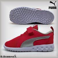👟 GENUINE PUMA® Carson 2 Glitz V Pink Trainers Size UK 5 6 7 8 9 Infant Girls