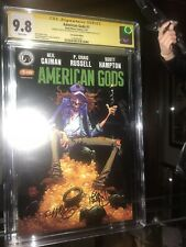 AMERICAN GODS # 1 CGC SS 9.8 signed 2x Skottie Young & Hampton SDCC variant