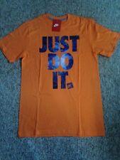 New NIKE Just Do It T-Shirt sz L JDI Galaxy Edition Orange Foamposite Max 14
