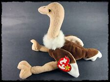Stretch the Ostrich Retired 1997 Ty Beanie Baby with Tags 3 up and Boys & Girls