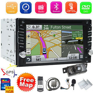 """Double Din Car Stereo 6.2"""" DVD CD Touch Screen Radio Mirror Link For Android&IOS"""