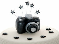 Edible CAMERA Handmade Sugarpast Cake Decoration topper