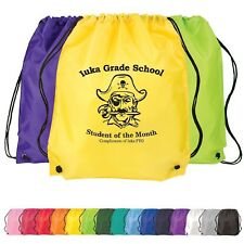 150 Personalized Classic Drawstring Backpack Printed with your Logo or Message
