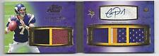 1/1 CHRISTIAN PONDER 2011 TOPPS PRIME LEVEL I 5 PIECE PATCH AUTO BOOK RC #D 7/10