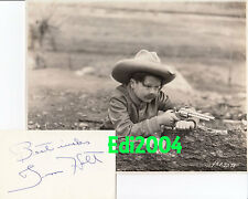 TIM HOLT Vintage Original Photo RARE FIRST FILM! 1928 & Autograph Card Signed