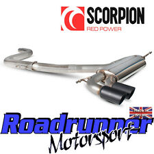 "Scorpion Golf GTI MK5 Exhaust 3"" Stainless Cat Back System Non Res Louder Black"