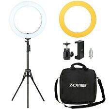 """ZOMEI 14"""" LED Ring Light with Stand Dimmable Lighting For Photography Selfie"""