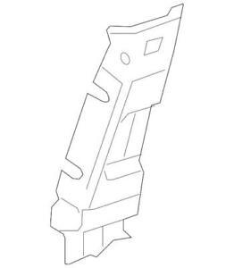Genuine GM 10-17 Chevrolet Traverse Interioror Upper Center Pillar Trim 22787195