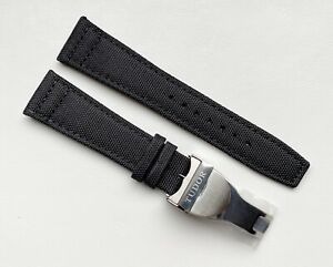 22mm Canvas Strap & deployment for For Tudor Black Bay/Pelagos BLACK