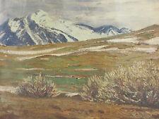 LES ALPES. PEINTURE À LHUILE SUR TOILE. F. HOCH. ALLEMAGNE. 1914.