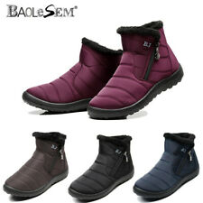 Winter Women's Snow Boots Fur-lined Slip On Warm Ankle Shoes Waterproof Shoes US