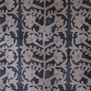 Peony and Sage Antibes Grande Mussel Blotch on Dune Linen Fabric 140cmX30cm