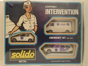Coffret INTERVENTION Emergency Set- SOLIDO réf:7019 made in France - MIB