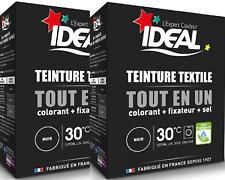 Lot de 2 Kit complet Teinture tout en un Mini Noir textile tissu Ideal 230 gr