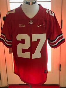 Ohio State Buckeyes #27 Eddie George Red Throwback College Jersey