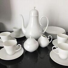 Service A Moka Rosenthal Classic Rose Vintage White Porcelain Coffee Set