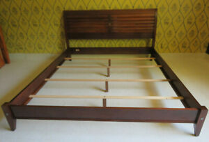 Ethan Allen Avenue Sleigh Bed with Low Footboard 18 5641 Claret Finish 310