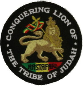 "25 Pcs RASTA Conquering Lion Embroidered Patches 3"" Diameter iron-on"