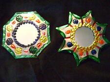 Mexican Folk Art Oaxaca PunchedTin Mirror Ornaments
