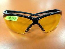 1 pair JACKSON 3000359 NEMESIS SAFETY GLASSES BLACK AMBER LENS