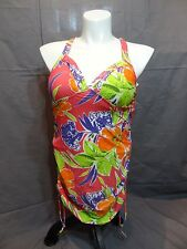 Lane Bryant no wire lined cup swim Tankini top plus size 18