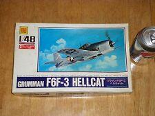 Grumman, F6F-3 Hellcat, WW2 Fighter Plane, Plastic Model Kit, Scale 1/ 48