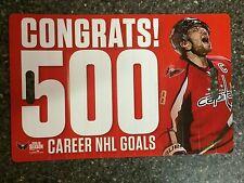 WASHINGTON CAPITALS 2016 Alex Ovechkin 500 Goals Noise Maker SGA 1/14/16  Poster