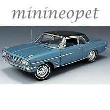HIGHWAY 61 50146 1963 PONTIAC LEMANS 326 V8 ENGINE 1/18 DIECAST MODEL CAR BLUE