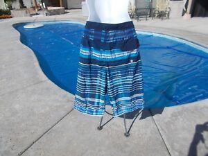 Dark blue, Light blue & White Board Shorts boy's size 18 New & free ship