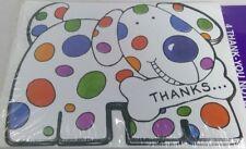 4 Thank-You Notes cartoon polka dot dog Tender Thoughts cards/envelopes
