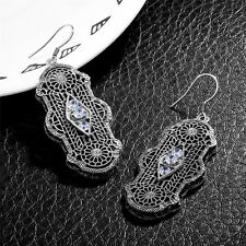 925 Sterling Silver Earrings Victorian Revival Filigree Fine earring Jewelry