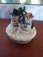 "Snowman Yankee Candle Jar Topper Our America -approx. 3.50""              P"