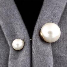 Frauen Kleidung Jacke Kragen Revers Pins Imitation Perle Brosche Zubehör