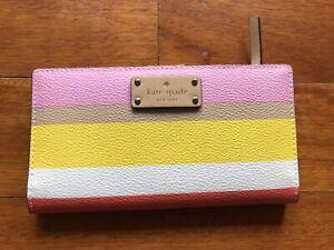 """kate spade wallet New """"Grove Street Printed Dunestripe"""""""