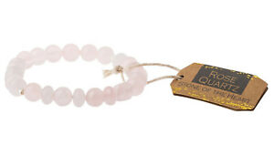 Scout Curated Wears ROSE QUARTZ STONE Stacking Bracelet HEART Jewelry SS008