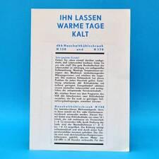 dkk Haushaltskühlschrank H 130 H 170 l DDR 1970 | Prospekt Werbung Werbeblatt E