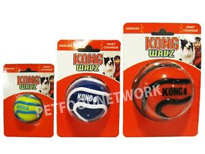 Kong Wavz Ball Assorted Dog Toy   Free Shipping