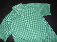 NWT, L.L. Bean Button Front Shirt ~ Small ~ Wrinkle Resistant ~ Green Checks