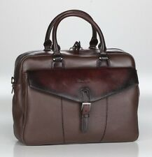 SANTONI *New Collection* Luxury Full Grain Leather Bag/Business Notebook Bag