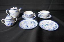 NIPPON JAPAN SMALL TEA SET, 4 SAUCER, 2 CUPS, SUGAR,  TEAPOT