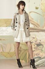 BURBERRY London Drop Waist Cotton White Voile Dress Womens size 12 L NEW $798