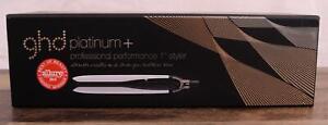 "ghd  White PLATINUM + Plus Professional 1"" Styler Flat Iron Hair Straightener"