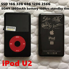 APPLE iPod Classic 7th Gen U2 256GB SSD MP4 1800mAh 100hrs New Battery WARRANTY