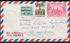 1386 Peru To Chile Air Cover 1952 Tacna - Vina Del Mar