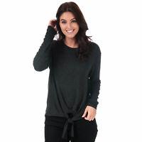 Womens Vero Moda Paya Knot Jersey Top In Black